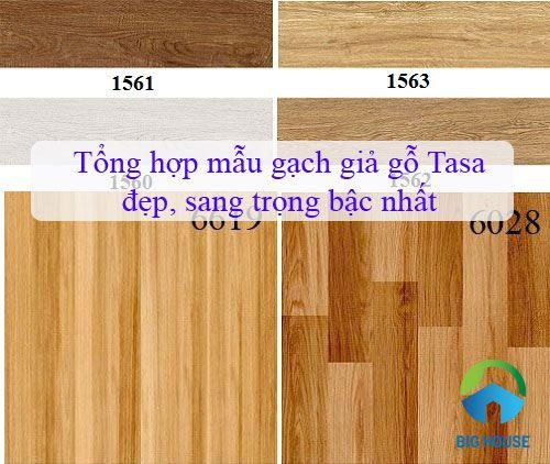 Tổng hợp mẫu gạch giả gỗ Tasa đẹp, sang trọng bậc nhất