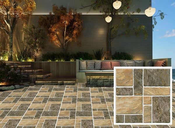 Mẫu gạch lát sân vườn Tasa 5823 họa tiết đơn giản nhưng vẫn rất bắt mắt