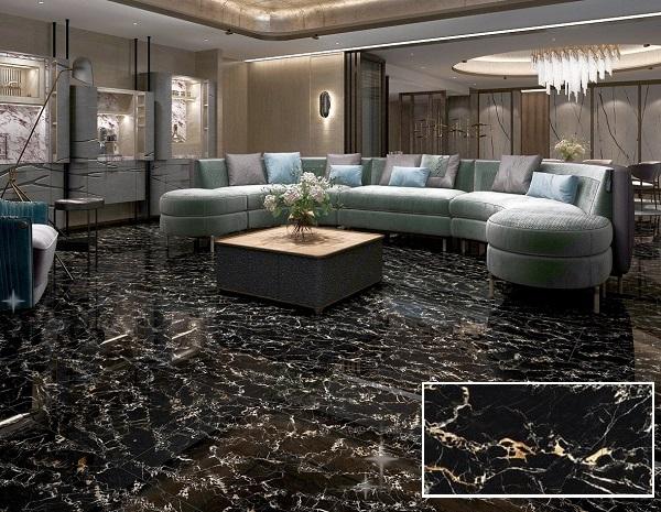 mẫu gạch vân đá tasa 1832 vàng đen tinh tế phù hợp cho những phòng khách có diện tích lớn