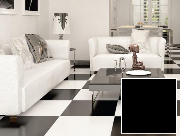 gạch lát nền đen trắng prime 08201 cũng được rất nhiều khách hàng ưa chuộng