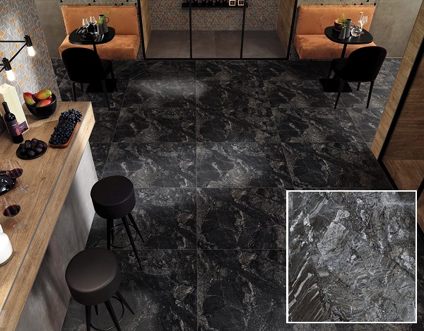 Mẫu gạch Prime 09508 màu xám lát phòng bếp chung cư