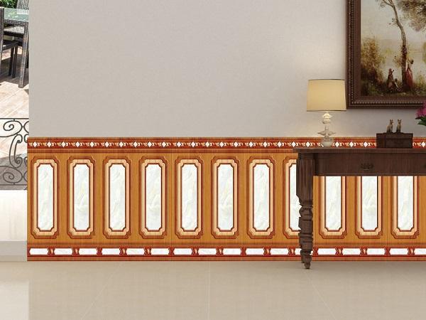 Gạch ốp chân tường giả gỗ Tasa 8645