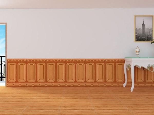 gạch chân tường giả gỗ ấn tượng