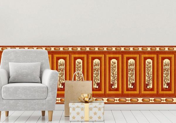 Mẫu gạch vân gỗ ốp chân tường Tasa 8682 phong cách cổ điển