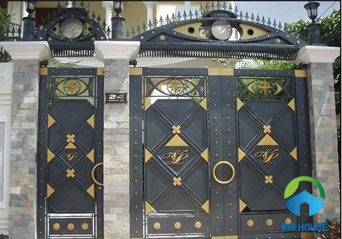 gạch ốp trụ cổng nhà giả cổ đa sắc