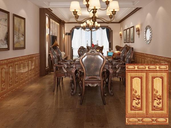 mẫu gạch giả gỗ ốp chân tường cao đẹp