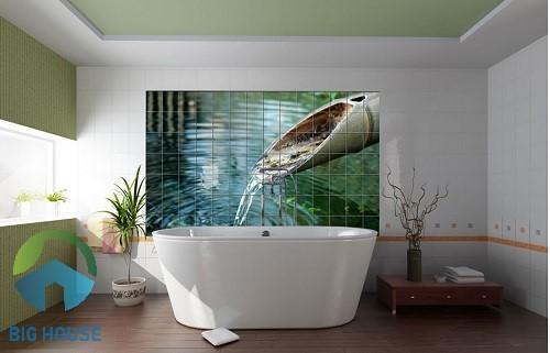 gạch tranh trang trí phòng tắm 4