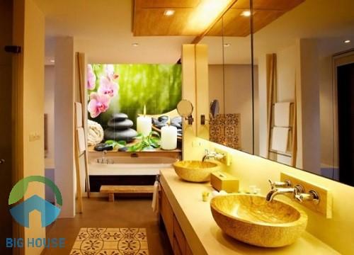 gạch tranh trang trí phòng tắm 2