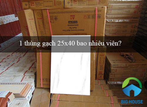 1 thùng gạch 25×40 bao nhiêu viên? Tư vấn chính xác nhất