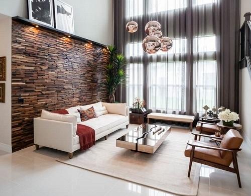 gạch ốp tường trang trí phòng khách 14