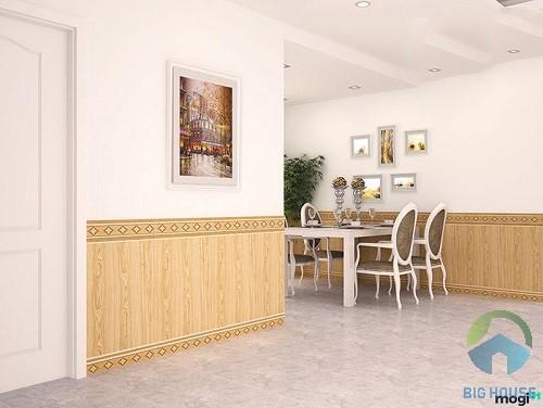 mẫu gạch ốp chân tường phòng khách đẹp 1