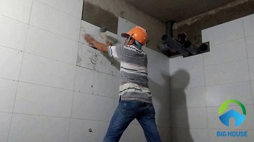 nên ốp gạch tường cao bao nhiêu