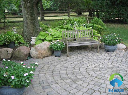 cách lát gạch sân vườn 1
