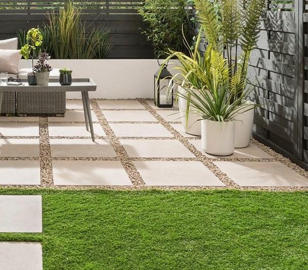 cách lát gạch trồng cỏ