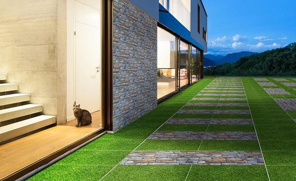 cách lát nền gạch sân vườn