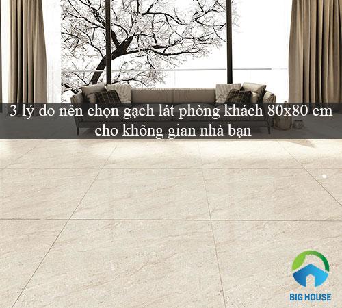 3 lý do nên chọn gạch lát phòng khách 80×80 cm cho không gian nhà bạn