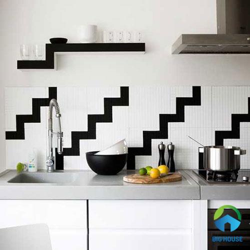 gạch ốp tường bếp màu trắng 5
