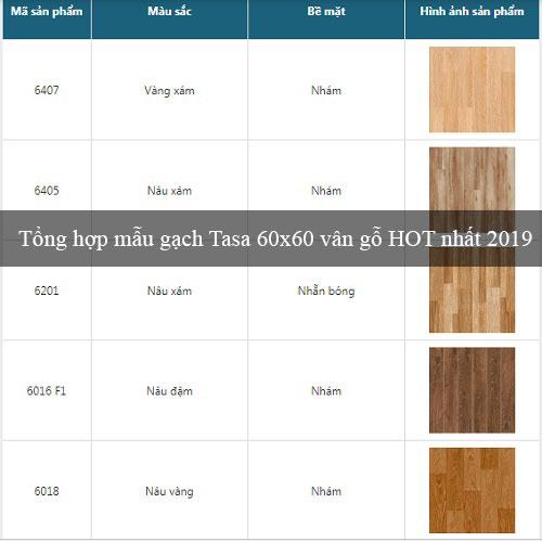 Tổng hợp các mẫu gạch Tasa 60×60 vân gỗ HOT nhất 2019