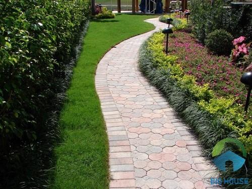 kỹ thuật lát gạch sân vườn