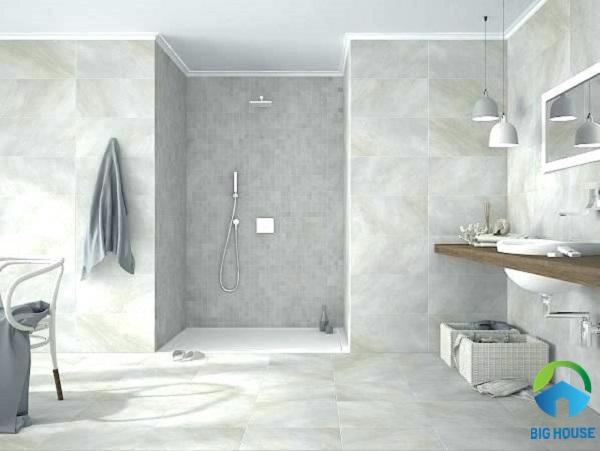 gạch lát nhà vệ sinh 30x60 màu xám men matt giúp chống trơn cực tốt