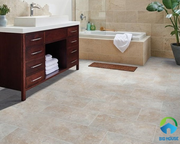 Gạch lát nhà vệ sinh 30x60 men sần mang phong cách cổ điển