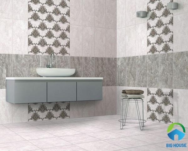 Mẫu gạch lát 30x60 họa tiết vân đá sang trọng, men matt vừa có thể sử dụng cho cả ốp và lát