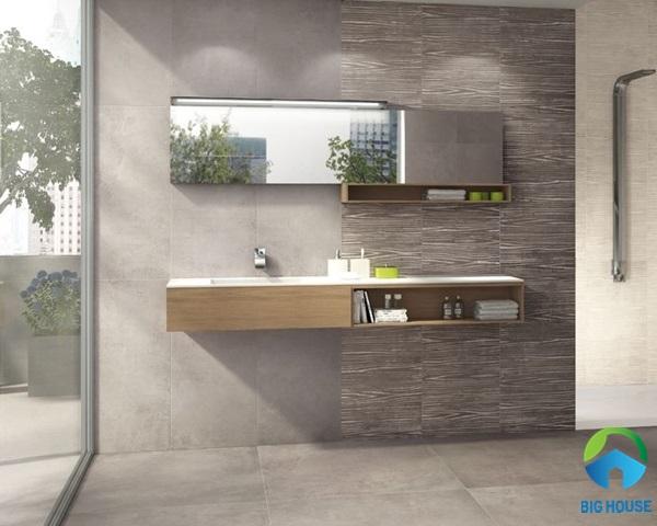 gạch lát nhà vệ sinh 30x60 tông màu ghi xám đặc trưng