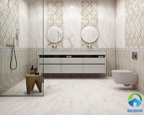 gạch lát nền nhà tắm 30x60 tông màu sáng