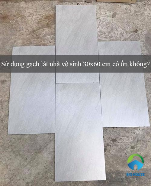 Sử dụng gạch lát nhà vệ sinh 30×60 cm có ổn không?