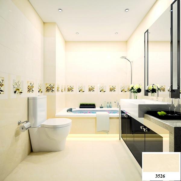 Chọn gạch lát nền nhà tắm tông hồng vô cùng đẹp mắt, ấn tượng