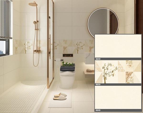 Gạch ốp tường nhà vệ sinh Tasa 4849 - 4850 sở hữu vẻ tinh tế, trang nhã