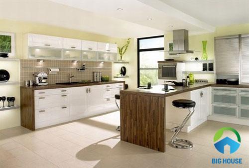 nhà bếp nên lát gạch màu gì 1