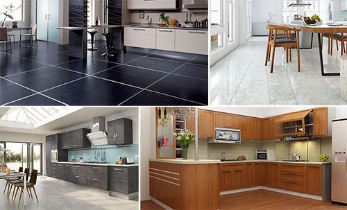 nhà bếp nên lát gạch màu gì