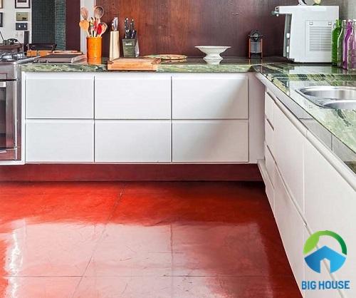 Gạch lát nền phòng bếp cho sinh động