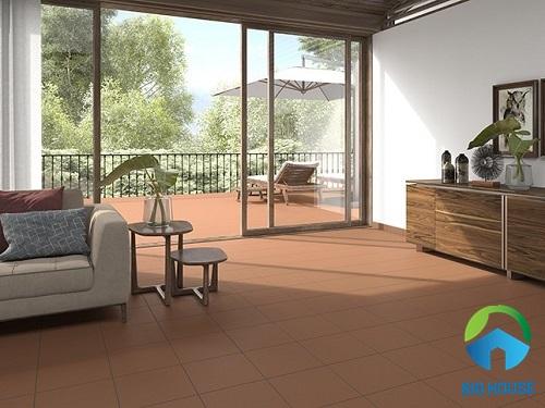 Mẫu gạch cotto bề mặt men bóng có thể sử dụng cho cả nội và ngoại thất