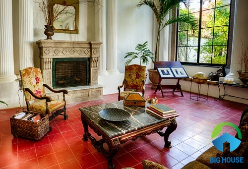 Gạch cotto màu đỏ phù hợp lát nền cho những không gian mang phong cách cổ điển