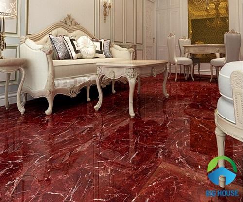 Gạch giả đá marble với họa tiết sang trọng, hiện đại