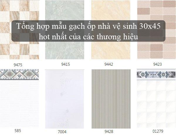 Gạch ốp nhà vệ sinh 30×45 – Bạn đã chọn cho mình được mẫu phù hợp?