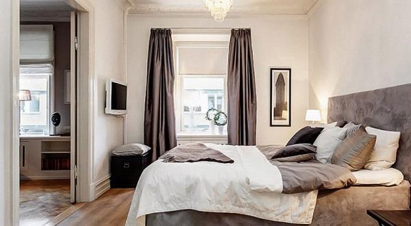 Không kê giường ngủ đối diện cửa phòng ngủ