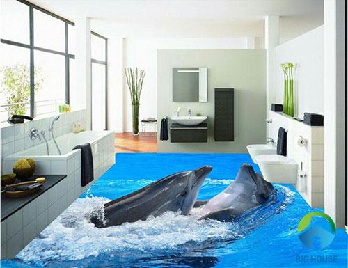 gạch lát nền nhà tắm 3D 15