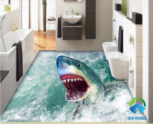 gạch lát nền nhà tắm 3D 16