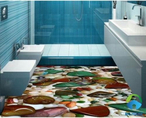 gạch lát nền nhà tắm 3D 17
