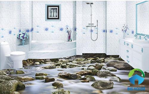gạch lát nền nhà tắm 3D 18