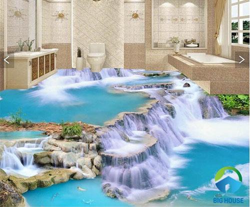 gạch lát nền nhà tắm 3D 19