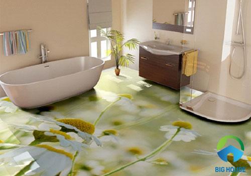gạch lát nền nhà tắm 3D 2