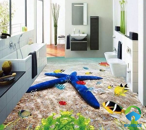 gạch lát nền nhà tắm 3D 22