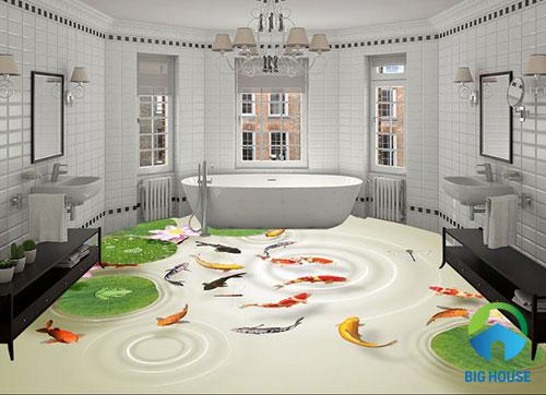 gạch lát nền nhà tắm 3D 23