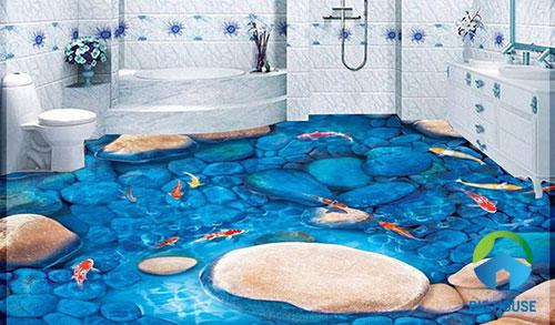gạch lát nền nhà tắm 3D 24
