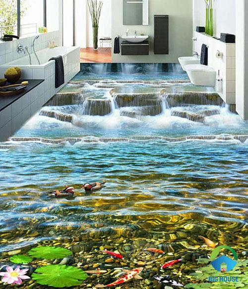gạch lát nền nhà tắm 3D 25