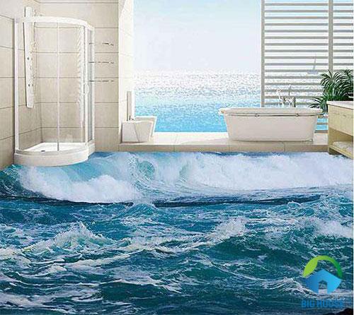 gạch lát nền nhà tắm 3D 28